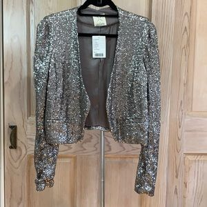 Stunning Silver Sequin Jacket! Urban Outfitters